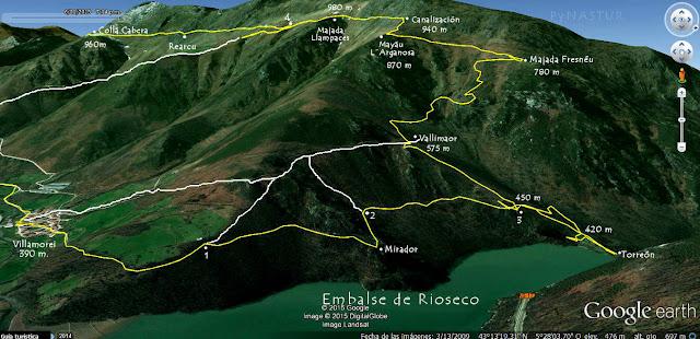 Mapa 2 - Ortográfico - Ruta Sierra del Crespón