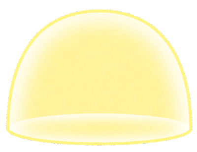 バリアのイラスト(半球)