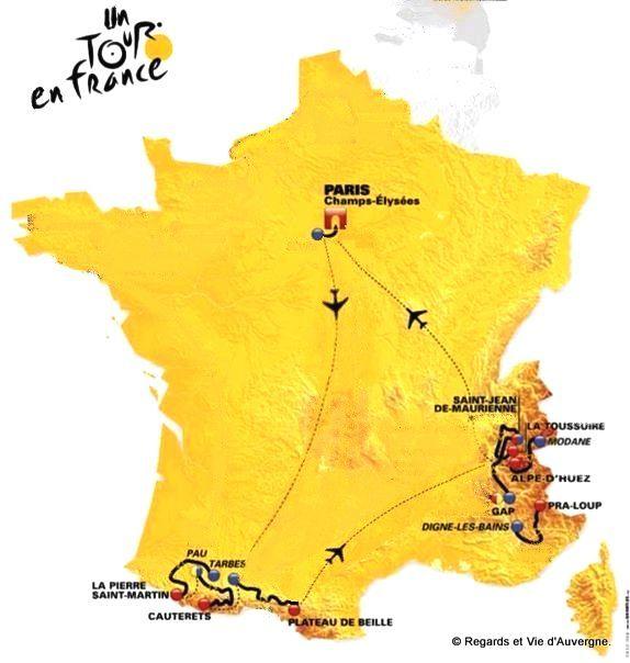 Tour de France, Tour en France