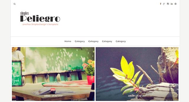 Simplex Peliegro Blogger Template