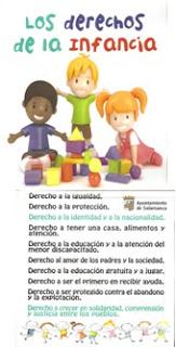 Materiales para trabajar los derechos del niño para preparar la participación en el concurso de los derechos de la infancia del Ayuntamiento de Salamanca.