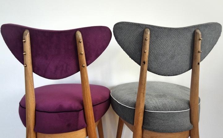 krzesło, hałas, PRL, DIY, krzesło tapicerowane, krzesło serce, krzesło serduszko