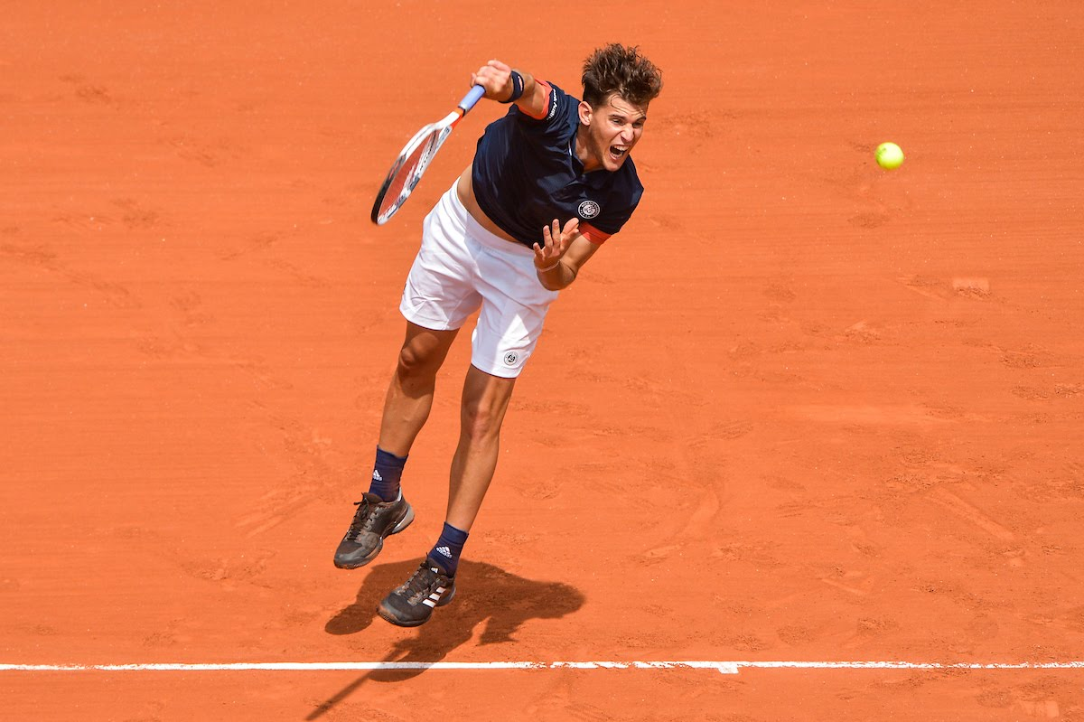 Dominic Thiem of Austria during Day 8 of the French Open 2018 on June 3, 2018 in Paris, France