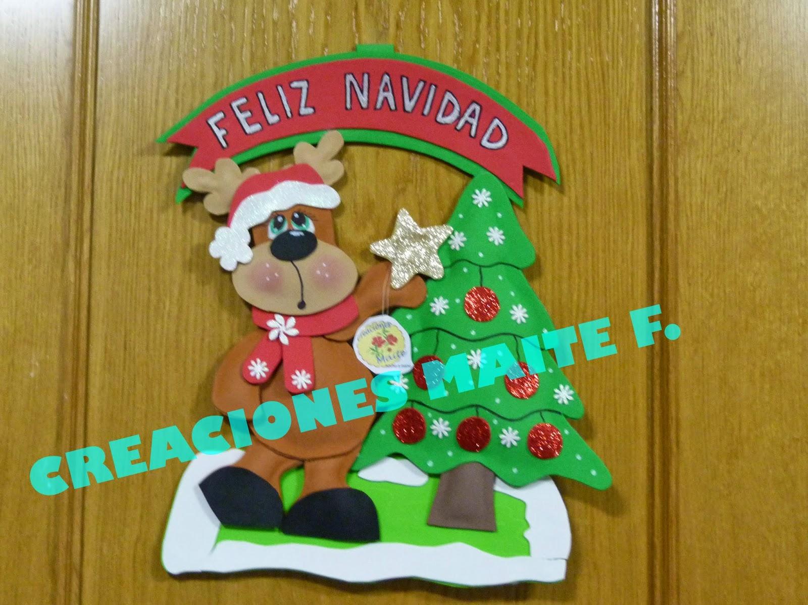 Fofuchas manualidades y creaciones maite cartel navidad - Con goma eva ...