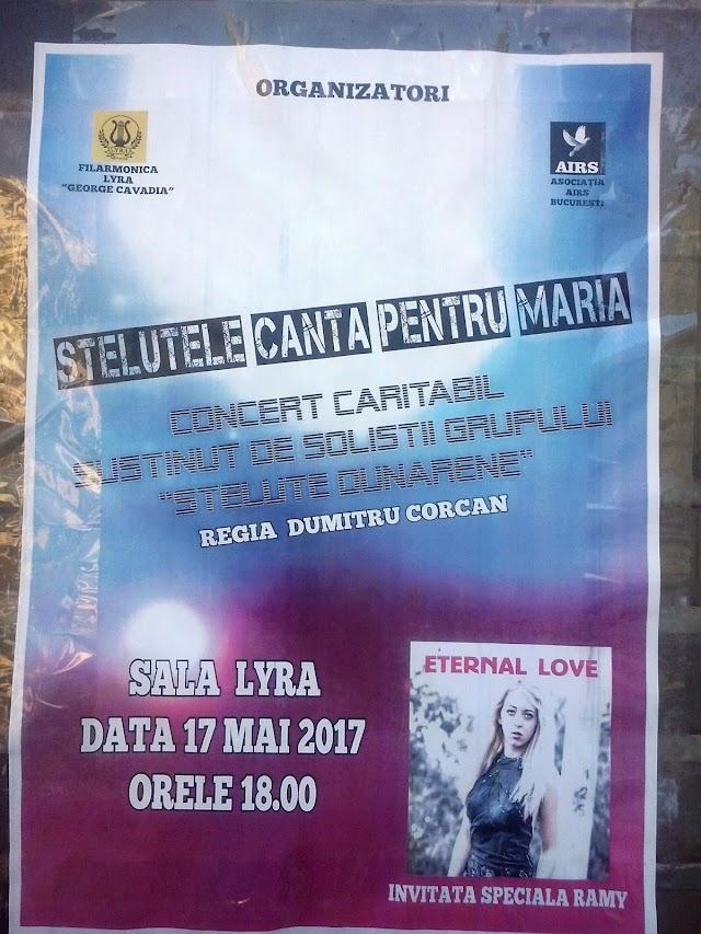 VIDEO: Concert caritabil pentru copila Maria