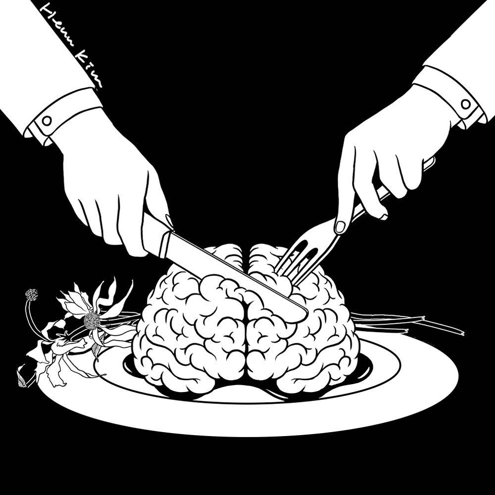 10-Fear-Eats-the-Soul-Henn-Kim-Surrealism-Black-and-White-Symbolic-Illustrations-www-designstack-co
