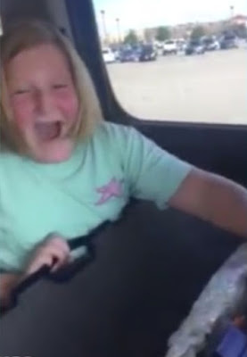 """Cellphone footage shows a 10-year-old school girl identified as Presley moved to tears as she unwraps her Beretta 686 shotgun - presented to her by her parents.  The viral video has garnered over 20 million views and thousands of comment for and against the highly debatable gun-law in the United States of America.  The happy girl could be heard saying:  """"Oh my goodness, this is crazy,"""" as she opens up the 686 Beretta box """"I can't breathe."""" """"Thank you"""""""