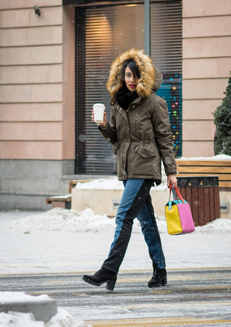 Winter, Street Style,Yerevan, Armenia,  Fashion, Look, Blogger, bag Tous, parka Asos, Monki, Jewel Mania, Nataniel Dobryanskaya, Ереван, Армения, стритстайл, мода, Анна Мелкумян, Anna Melkumian