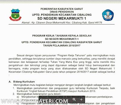 Program Kerja Kepala Sekolah SD Terbaru