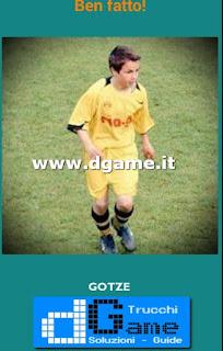 Soluzioni Guess the child footballer livello 30