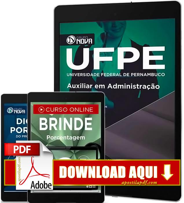 Apostila UFPE 2016 PDF Download Auxiliar em Administração