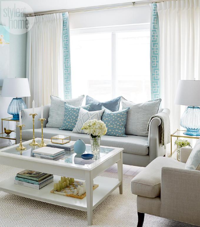 Detalhes do Cu: Uma casa em tons azuis turquesa