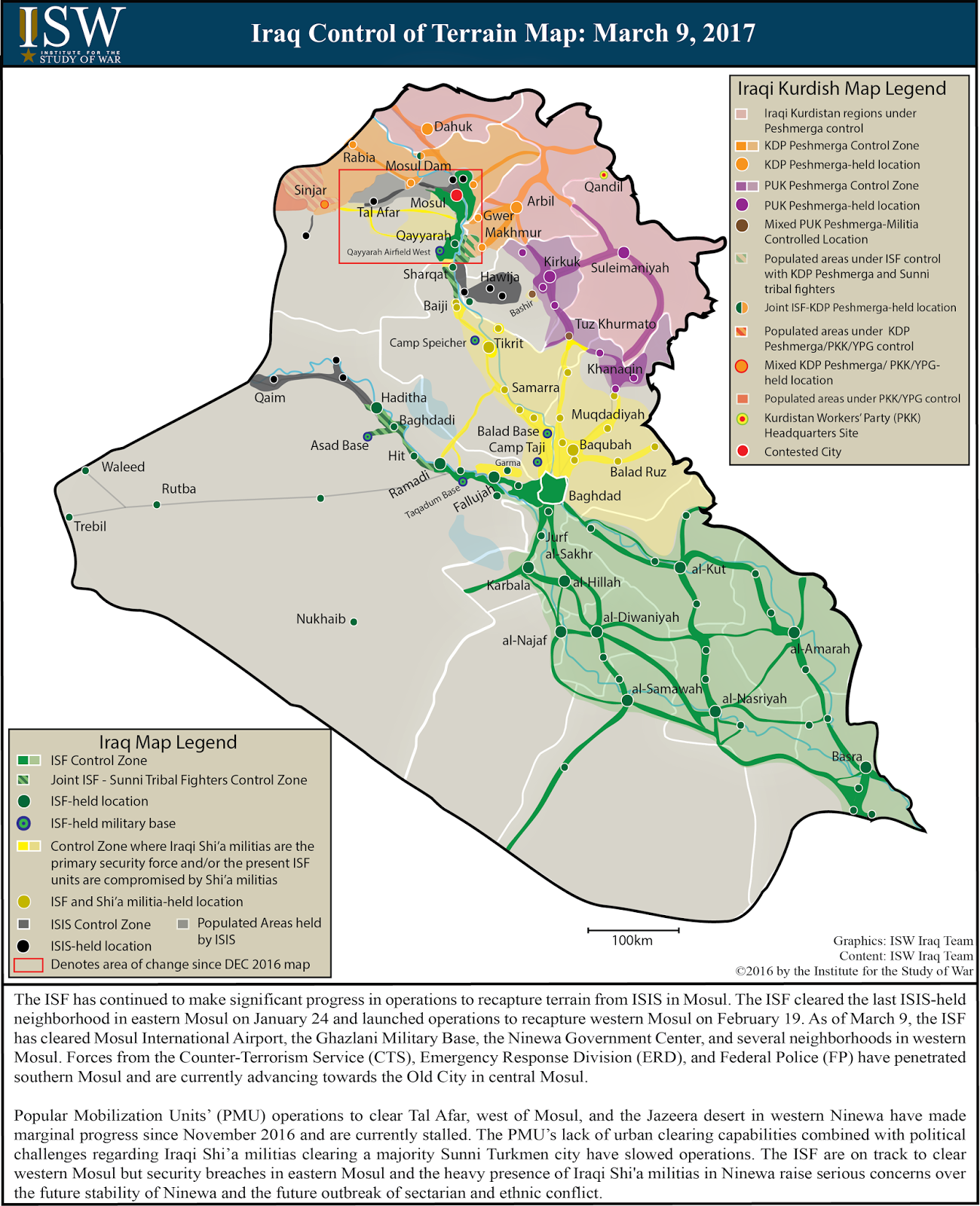 ISW Blog: Iraq Control of Terrain Map: March 9, 2017
