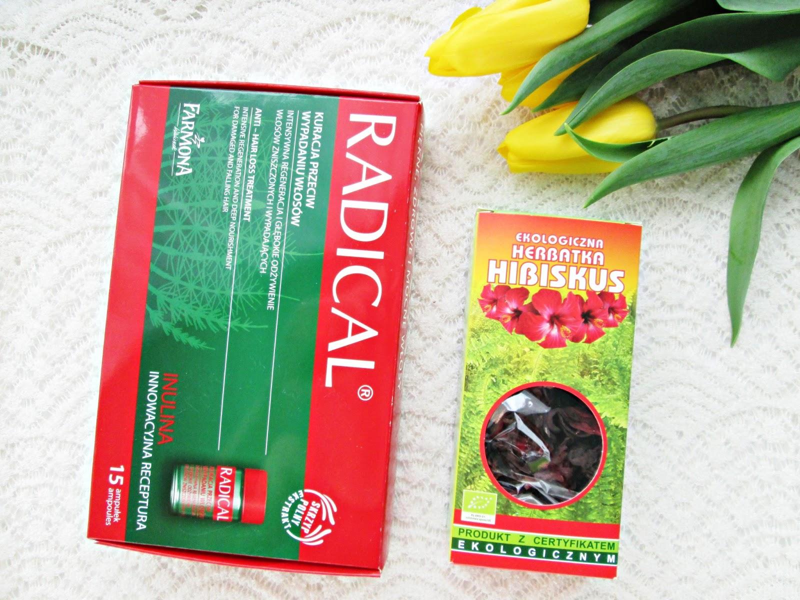 Ampułki Radical i hibiskus na włosy
