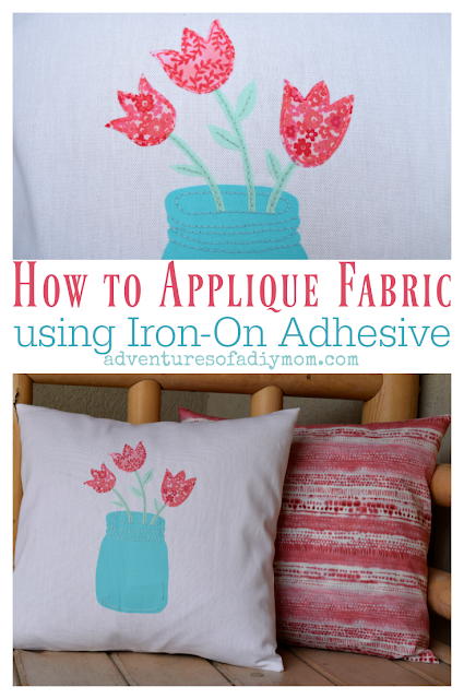 Learn how to applique fabric using iron-on adhesive. Step-by-step instructions with pictures, PLUS a free printable pattern! #fabricapplique #howtoappllique #craftsanddiy #freepattern #ironons