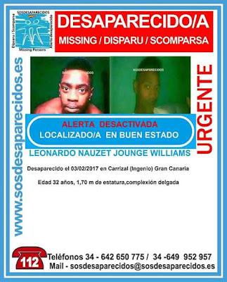 Localizado desaparecido Carrizal (ingenio) Leonardo Nauzet