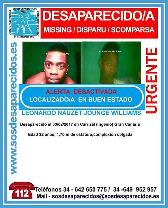 Localizado desaparecido Carrizal (ingenio)