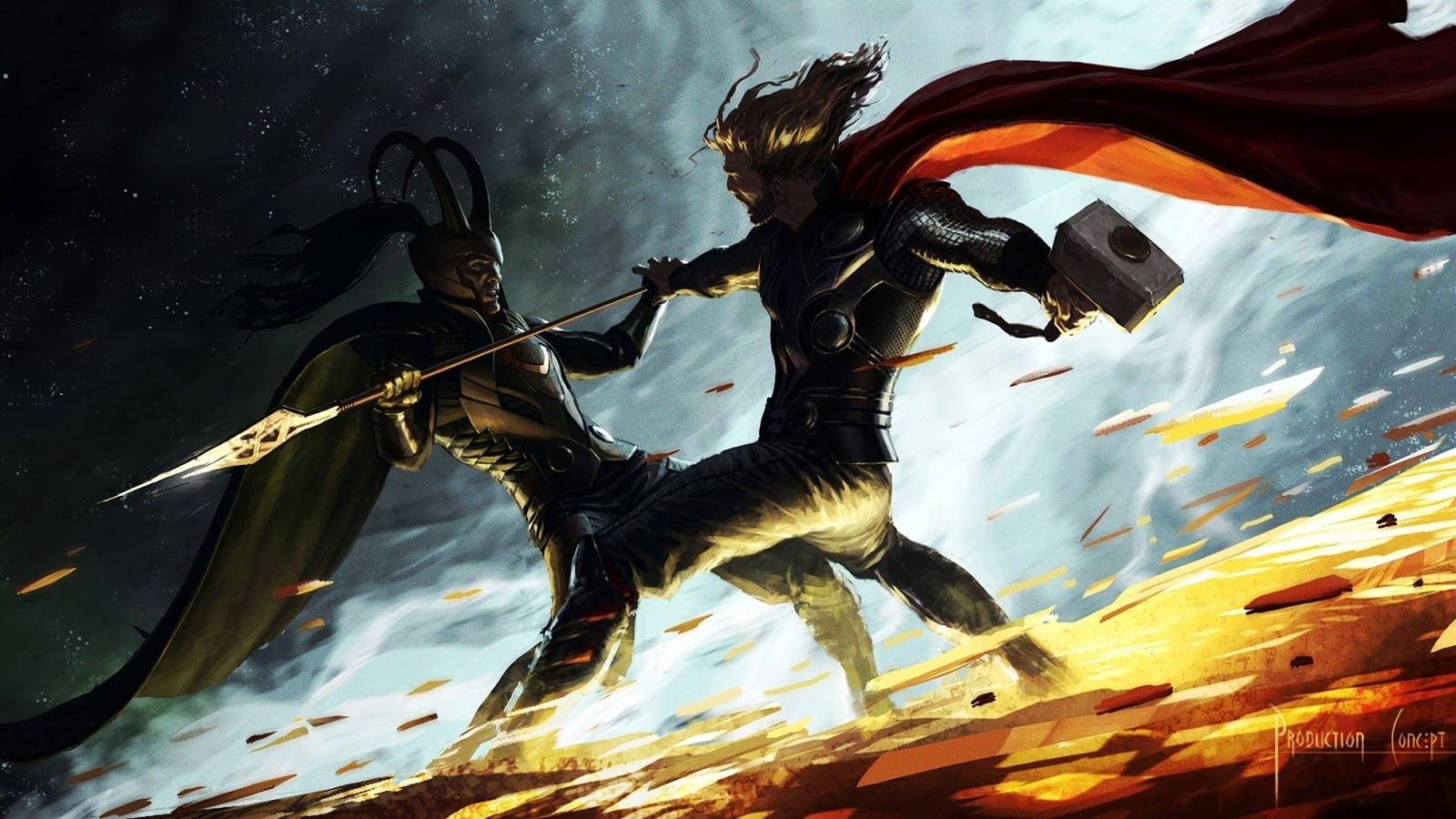 Thor vs Loki c25 - Wallpapers