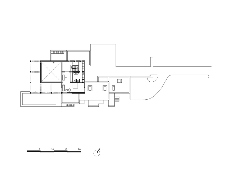 First floor plan of Simple modern home in Portugal