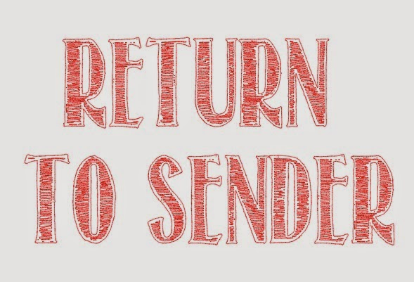 Fill, fonts, sketch pens, Silhouette tutorial, return to sender