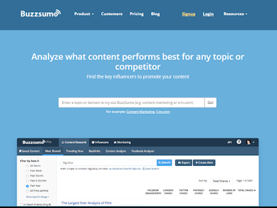 Buzzsumo gives you a quick overview of most shared content on the internet