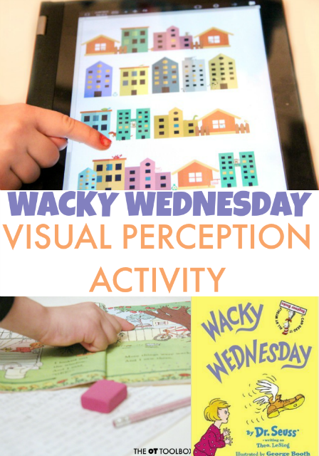 Kids love this Wacky Wednesday Visual Perception activity while working on visual perceptual skills.