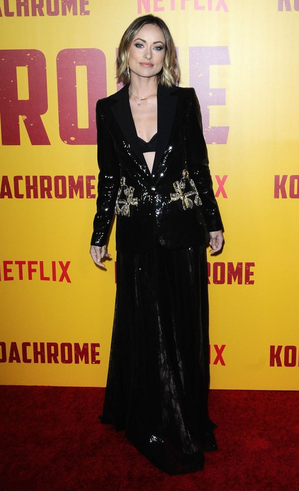 Olivia Wilde flaunts black bra at the Kodachrome LA Premiere