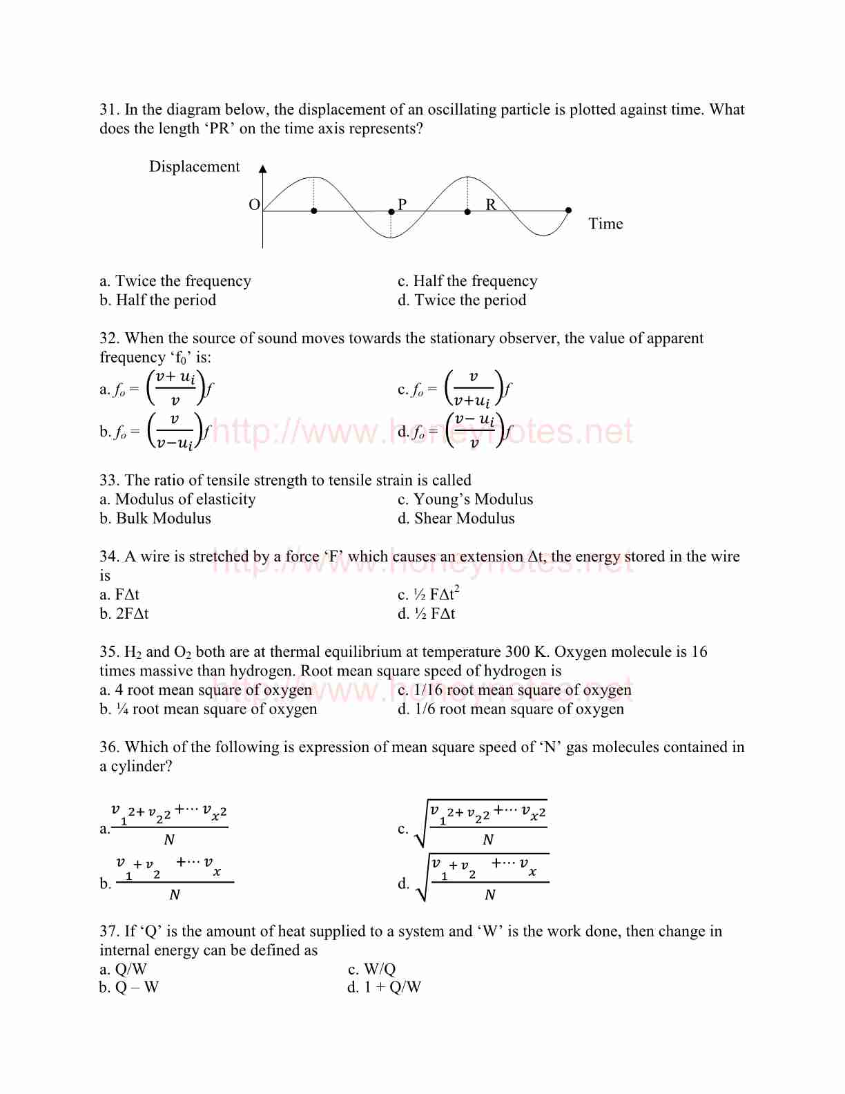 Physics Important MCQs For MCAT Preparation (UHS Past Papers