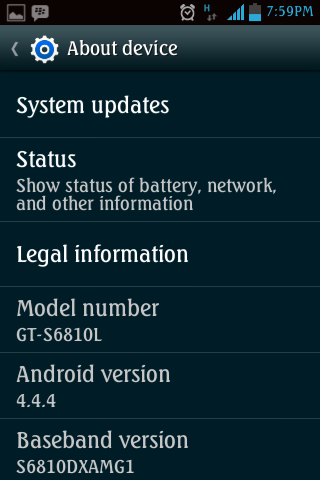 Android Version 4.4.4