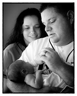 On location newborn photography