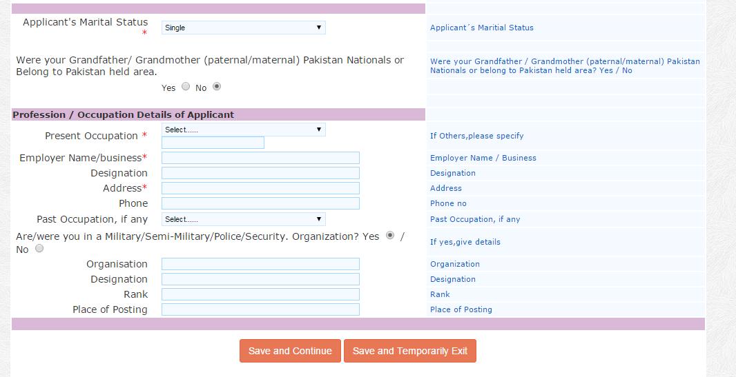 reference name un india visa application