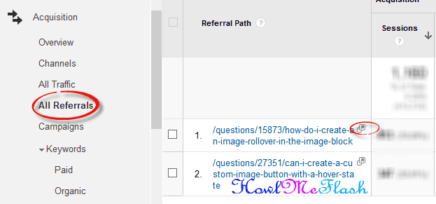 google analytics all referrals