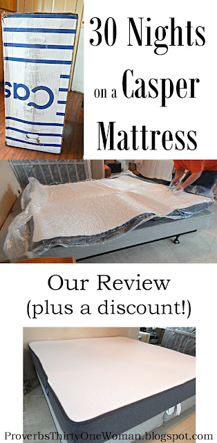 30 nights on a casper mattress our review plus a discount proverbs 31 woman. Black Bedroom Furniture Sets. Home Design Ideas