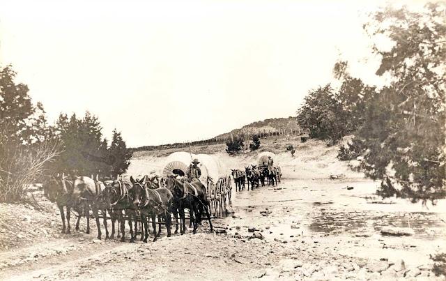 Freight wagons near Kerrville