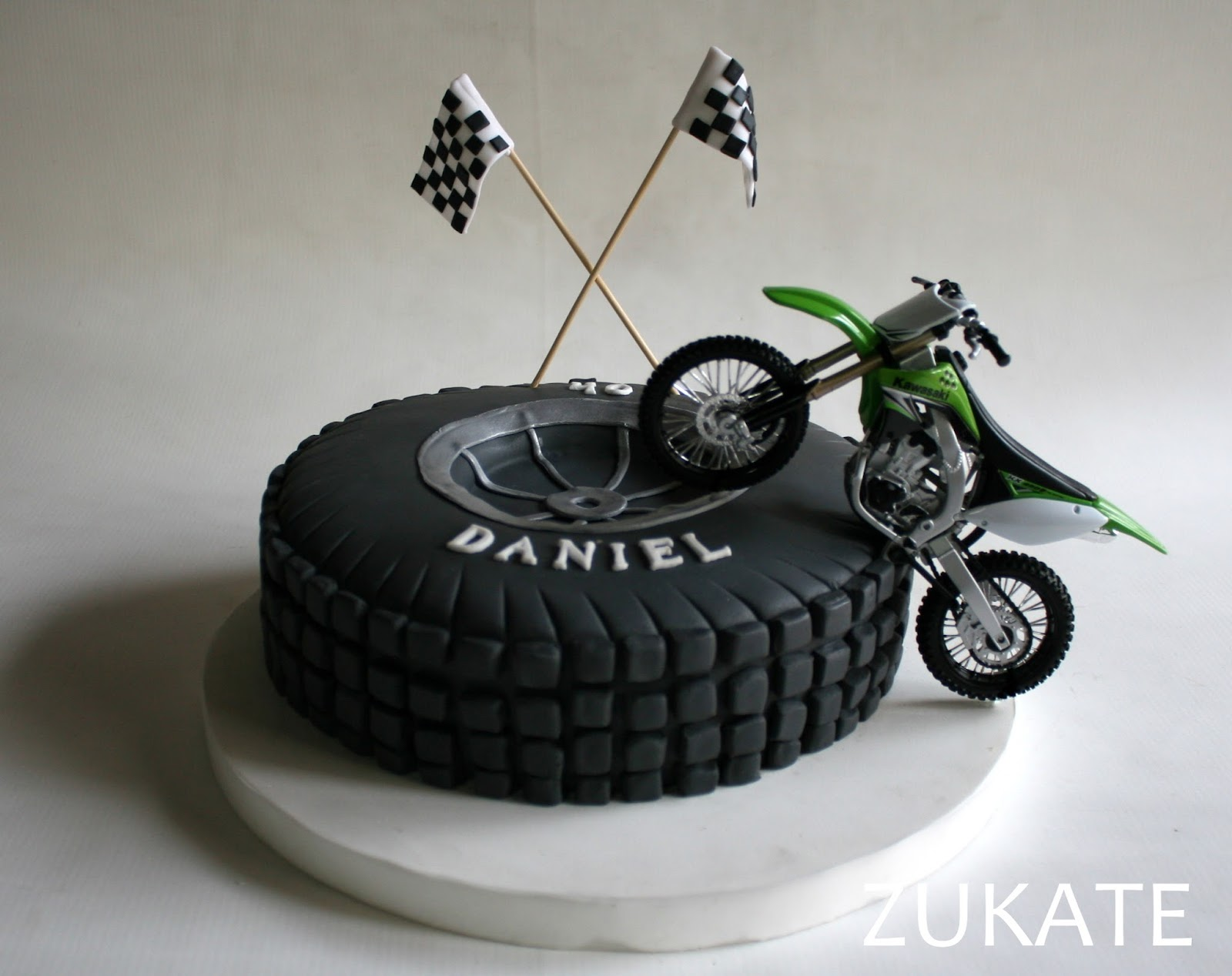 Motorcycle On Cake