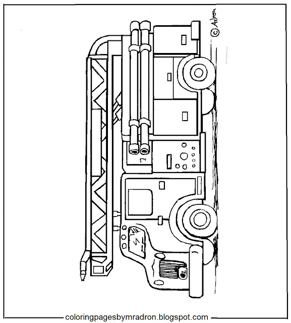 free coloring pages fire engines - photo#21