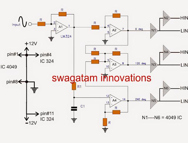 3 phase signal generator
