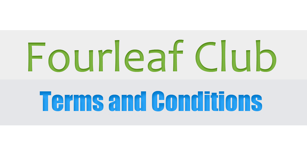 Terms and Conditions - Fourleaf Club