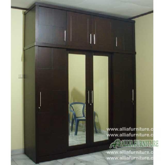 lemari pakaian minimalis unit 4 pintu 4s