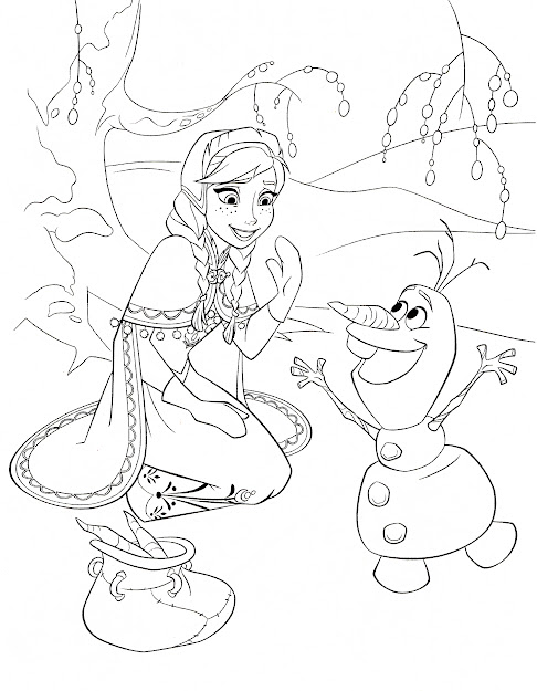 Free Frozen Printable Coloring  Activity Pages Plus Free Puter Games