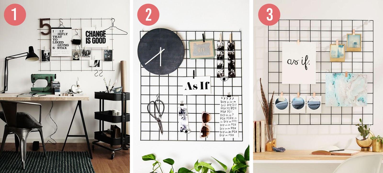 Diy wandrek wall grid the budget life low budget lifestyle tips - Wandrek ijzeren ...