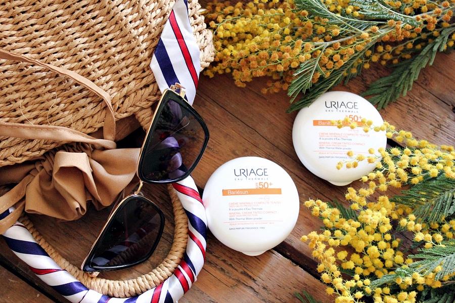Солнцезащитная минеральная крем-пудра SPF50+ Uriage Bariésun Cream Powder SPF50, два оттенка / обзор, отзывы