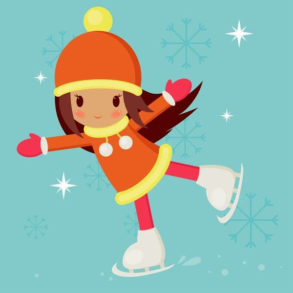 Create a Skating Girl With Basic Shapes