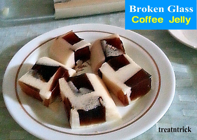 Broken Glass Coffee Jelly Recipe @ treatntrick.blogspot.com