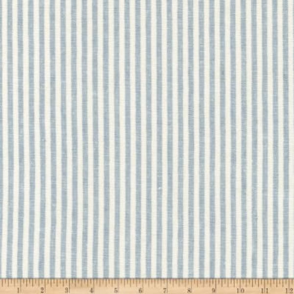 Kaufman Essex Yarn Dyed Classic Wovens Linen Stripes Chambray Fabric