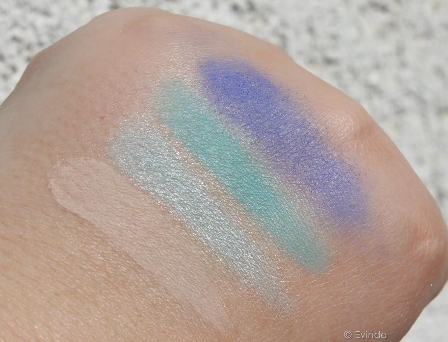 Avon Day Glow eyeshadow palette swatches