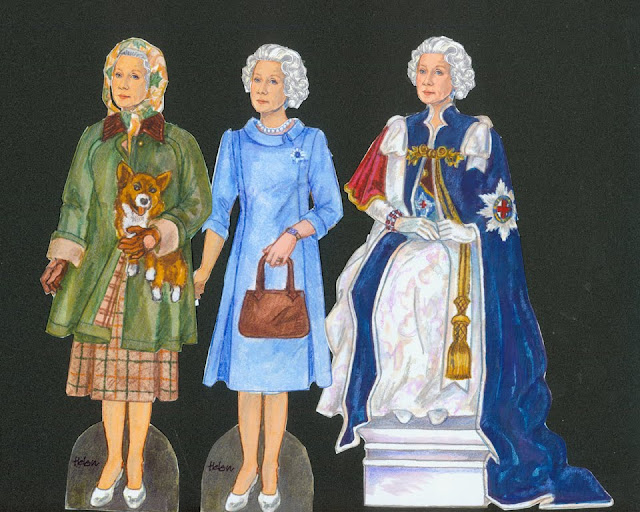 Helen Mirren as Elizabeth II Paper Dolls