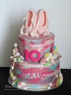 Bolo para o 10º aniversário da Jeniffer