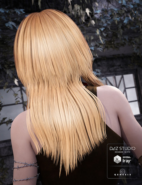 Long Shag Hair for Genesis 3 Female