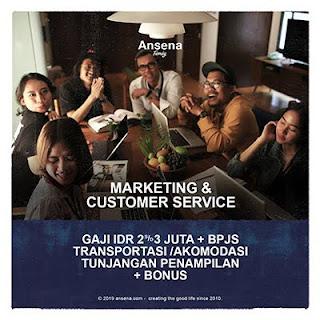 Lowongan Kerja Customer Service dan Marketing di Ansena - Surakarta